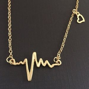 Boutique Jewelry - Electrocardiogram Heart Necklace